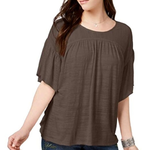 Style & Co Tops - Style & Co. Flutter-Sleeve Poncho Top